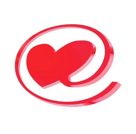 parejas sensuales: e-signo de amor, objeto aislado, ilustraci�n, pintura, dibujo  Foto de archivo
