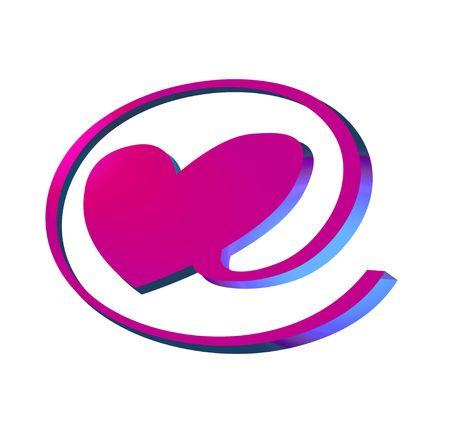 matrimonial: e-love pink neon sign, object isolated, illustration, painting, drawing