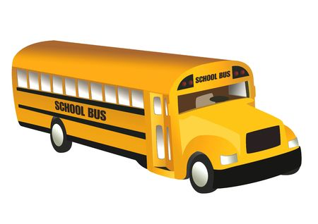 School Bus, object isolated, school series, illustration illustration