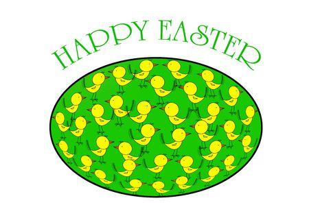 Easter egg, version with text, Easter series, illustration illustration