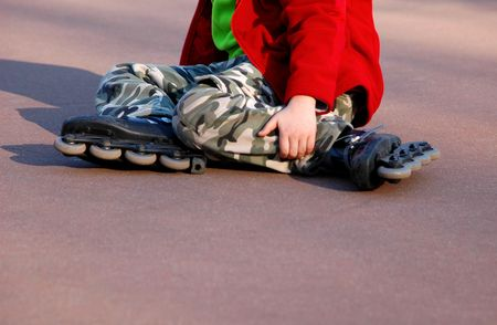 Rolling and falling, leisure, safety, activity, danger, insurance, concept photo