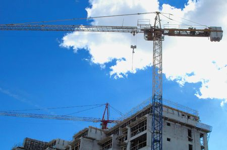 Construction site, real estate issues, flat building issues, heaven, dream metaphors Stock Photo - 868746