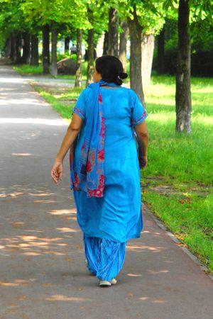 kameez: Woman in blue, beauty, fashion, tradition, metaphors