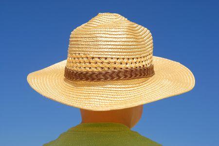 lanscape: Blue sunny summer, happy holidays, sun protection Stock Photo