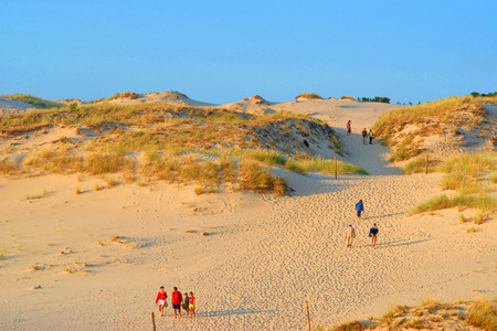 Large dune at the seaside,  summer holidays, landscape