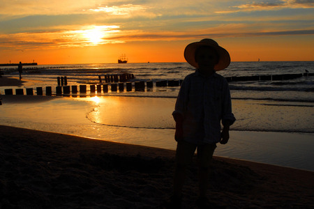 Sunset at the seaside photo