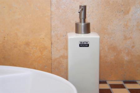 Bathroom, liquid soap, decoration, style, concept Stock Photo - 1424779