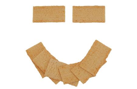 Healthy smile of crispbread face, concept Stock Photo - 1470779