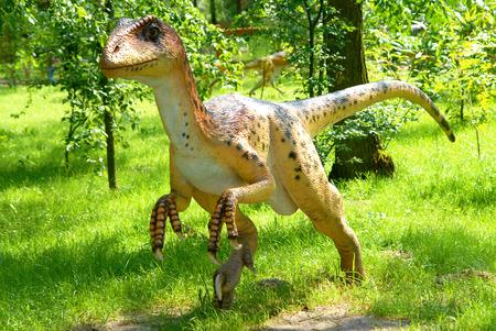 Deinonychus antirrhopus, Deinonych, dinosaurs series, jurassic park, education, concept  photo