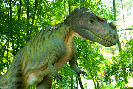 short trip: Ceratosaurus nasicornis, Ceratosaur, dinosaurs series, jurassic park, education, concept Stock Photo