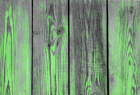 ravaged: Green paint on the old wood