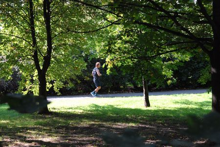 Running in the sunlight, healthy life photo