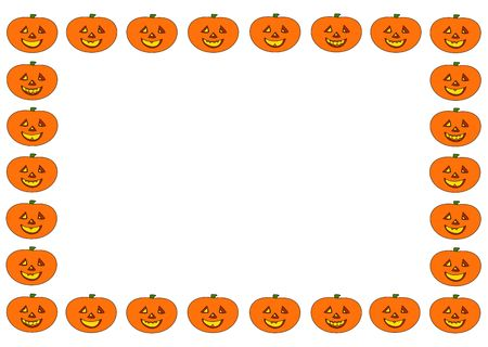 fall images: Happy Halloween ! Halloween frame of the smiling pumpkin men