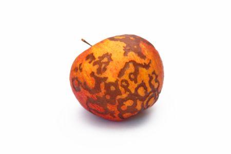 individualism: Original apple on the white background