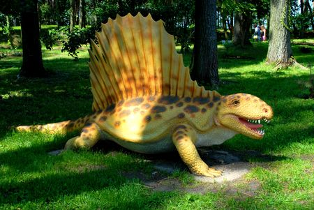 science is exciting: Dimetrodon grandis, Dimetrodon, dinosaurs series, jurassic park, education, concept