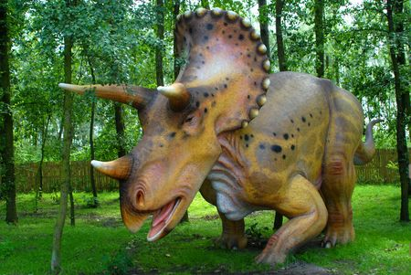 science is exciting: Triceratops horridus, Triceratops, dinosaurs series, jurassic park, education, concept Stock Photo