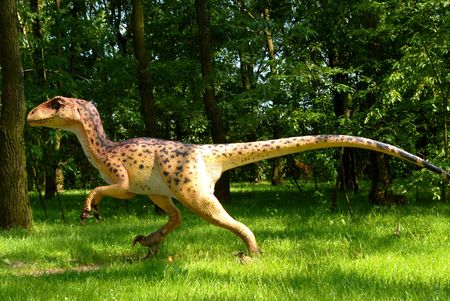 prehistoric animals: Deinonychus antirrhopus, Deinonych, dinosaurs series, jurassic park, education, concept