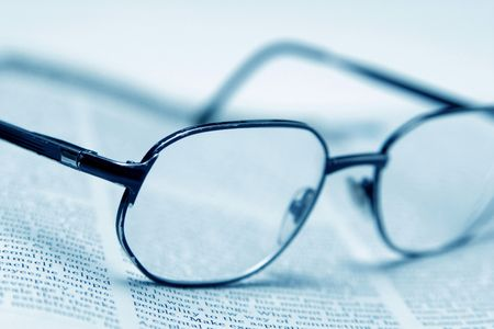 health symbols metaphors: A glasses and the text page