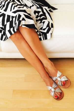 Legs of attractive woman photo