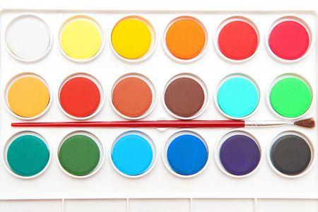 Colorful paints photo