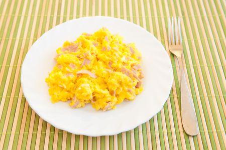 Scrambled eggs photo