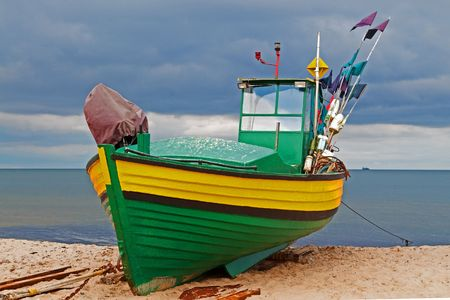 beached: Fishing boat