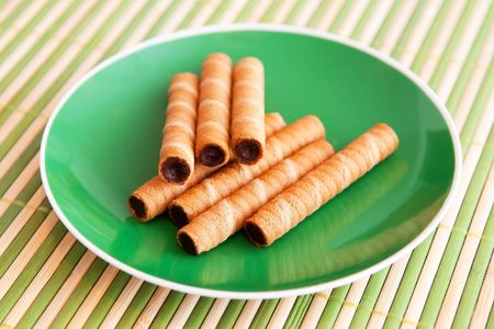 Wafer rolls Stock Photo - 7759686