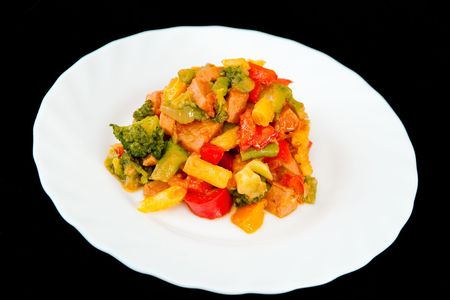 Vegetables with meat photo