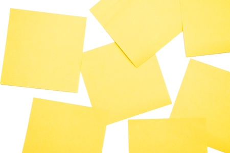 Yellow postit Stock Photo - 10363746