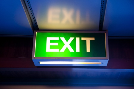 emergency light: Exit