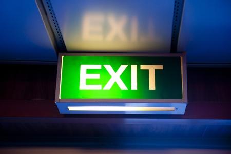 fire exit sign: Exit