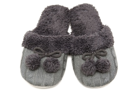 pompon: Slippers Stock Photo