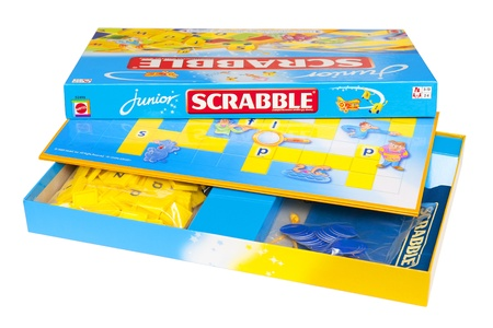 Scrabble junior box isolated on the white background  Stock Photo - 11829311