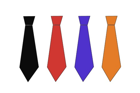 different types: Ties collection Stock Photo