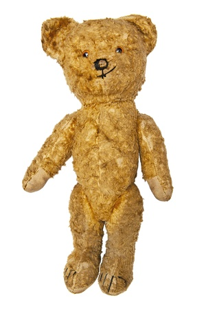 soft toy: Old teddy bear Stock Photo