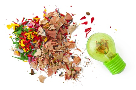 Shavings and sharpener photo