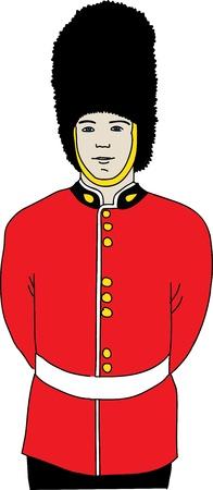 british culture: Guardia de la Reina en la ilustraci�n vectorial de Londres Vectores
