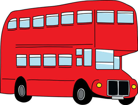 double decker bus: London bus  Vector illustration