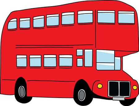 londres autobus: Londres ilustraci�n vectorial de autob�s Vectores