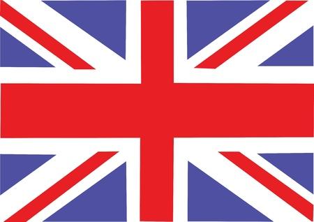 bandera uk: Gran Bretaña bandera ilustración vectorial Vectores