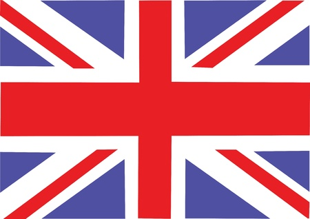 learn english: Great Britain flag  Vector illustration