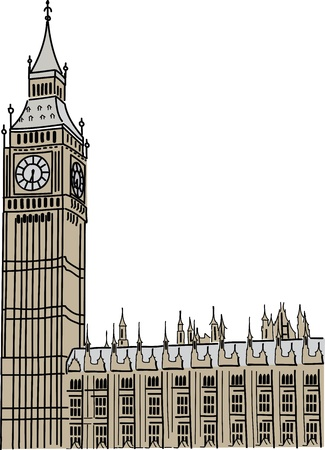 the palace of westminster: Big Ben in London