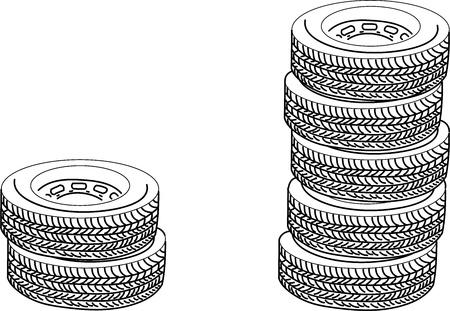 Tires Vector illustration