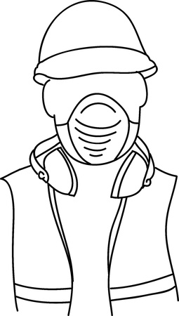 dust mask: Safety at work  Vector illustration