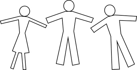 heterosexuality: People  Vector illustration Illustration