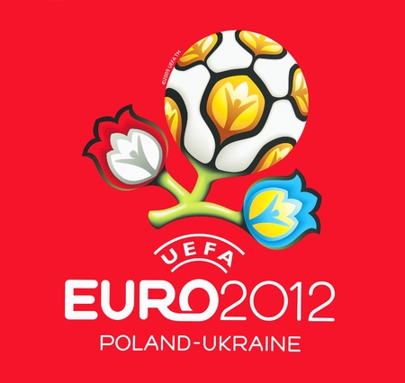 gdansk: GDANSK, POLAND - MAY 1: Official logo for UEFA EURO 2012, Gdansk, Poland, May 1, 2012 Editorial