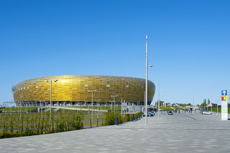 GDANSK, POLAND - MAY 1: PGE Arena, New Stadium in Gdansk for UEFA EURO 2012, Gdansk, Poland, May 1, 2012