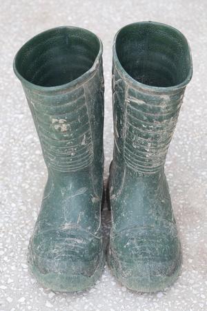 rainwear: Dirty rubber boots