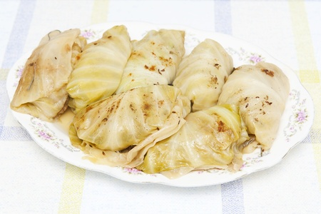 russian tradition: Stuffed cabbage rolls