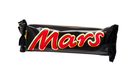 Mars candy bar isolated on a white background
